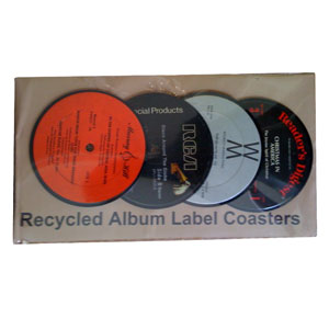 Gag Gifts - Recycled Album Coasters
