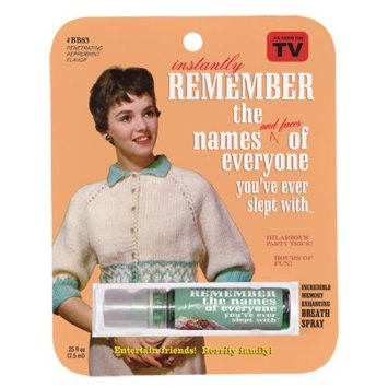 Gag Gifts - Remember the Names Breath Spray