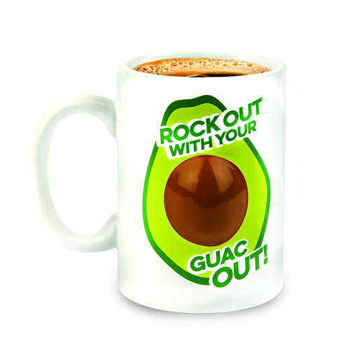Gag Gifts - Rockin' Out Avocado Mug