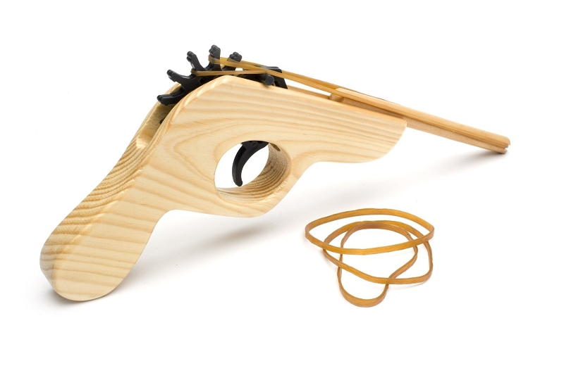 Gag Gifts - Rubber Band Wooden Shooter