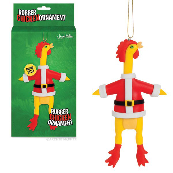 Gag Gifts - Rubber Chicken Ornament