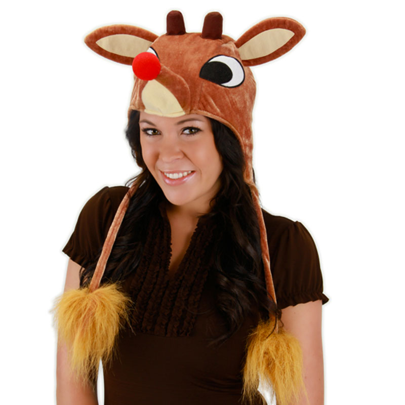 Gag Gifts - Rudolph Light-Up Hoodie Hat
