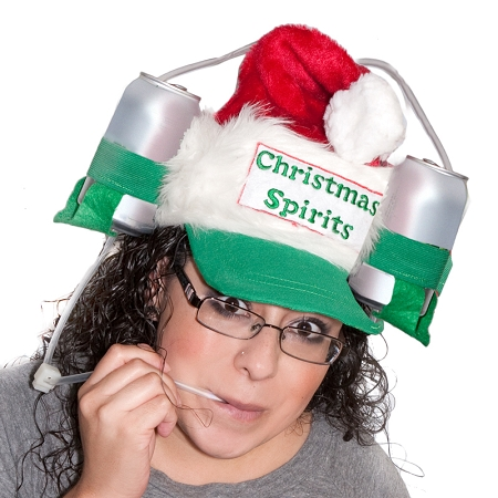 Gag Gifts - Santa Drinking Hat