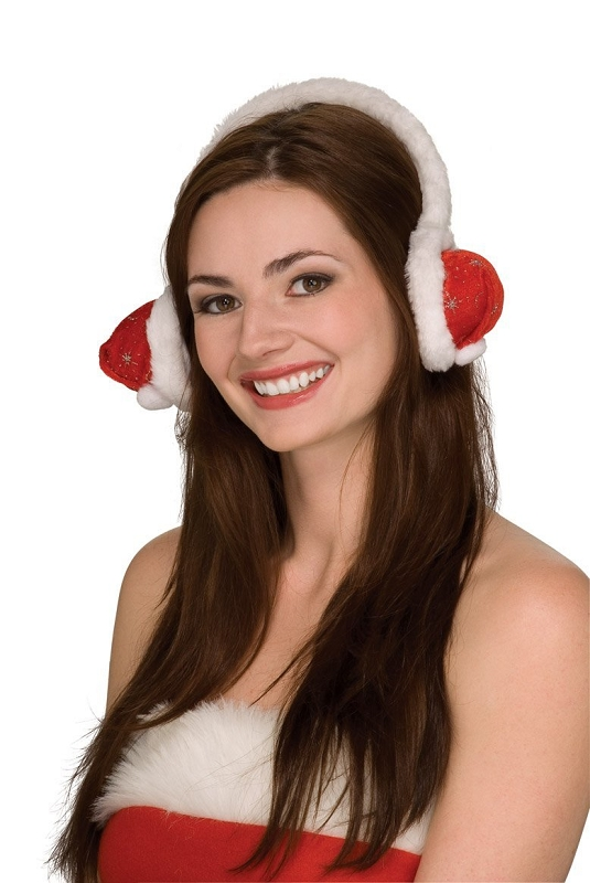 Gag Gifts - Santa Hat Ear Muffs