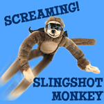 Gag Gifts - Screaming Slingshot Monkey