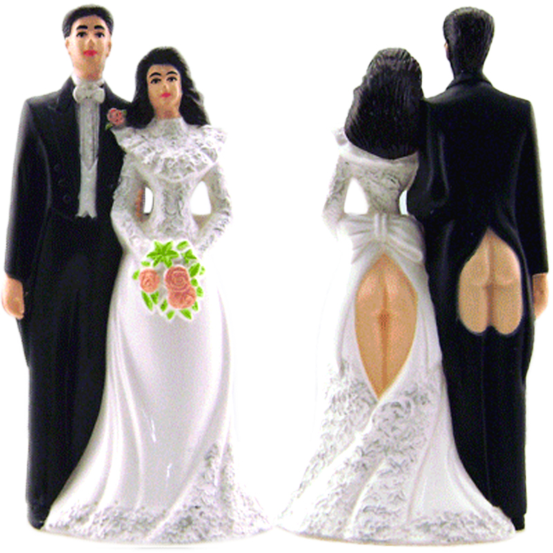 Gag Gifts - Sexy Butts Wedding Cake Topper