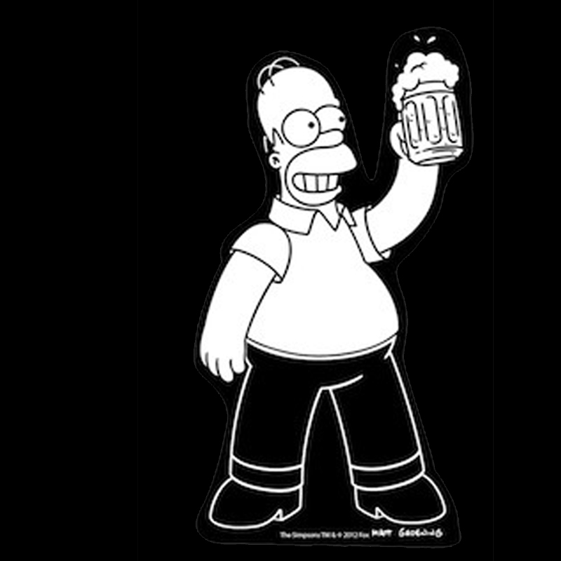 Gag Gifts - Simpsons, Homer with Beer Car Decal