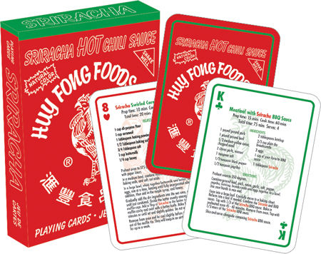 Gag Gifts - Siriracha- Recipes Playing Cards
