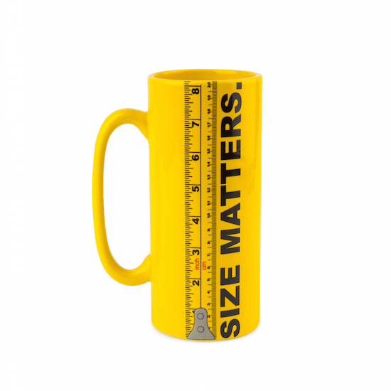 Gag Gifts - Size Matters Coffee Mug