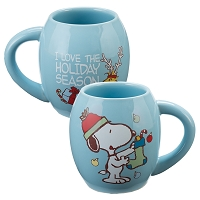 Snoopy Holiday Oval Mug