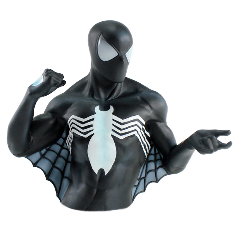Gag Gifts - Spiderman, Black Suit Bust Coin Bank