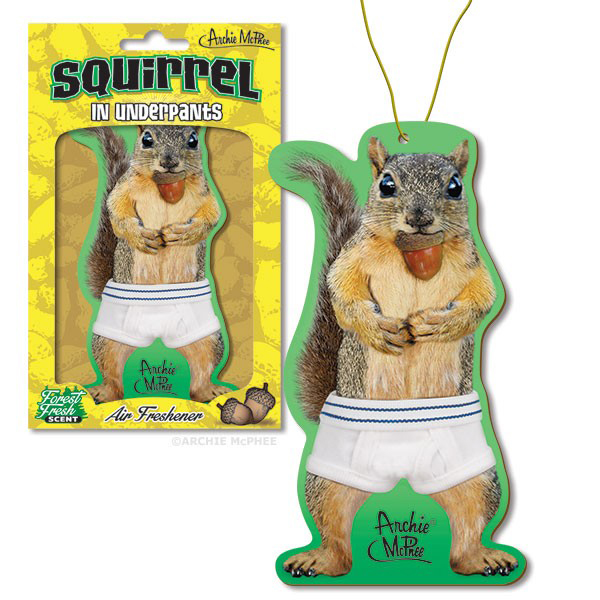 Gag Gifts - Squirrel in Underpants Air Freshener