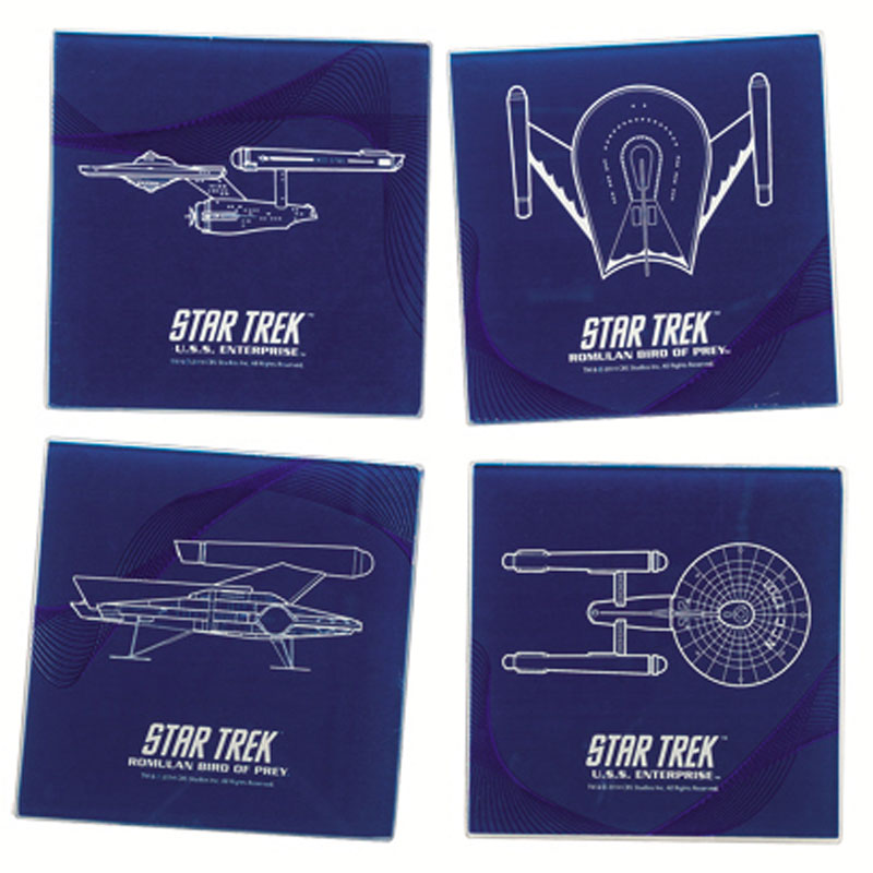 Gag Gifts - Star Trek Glass Coaster Set