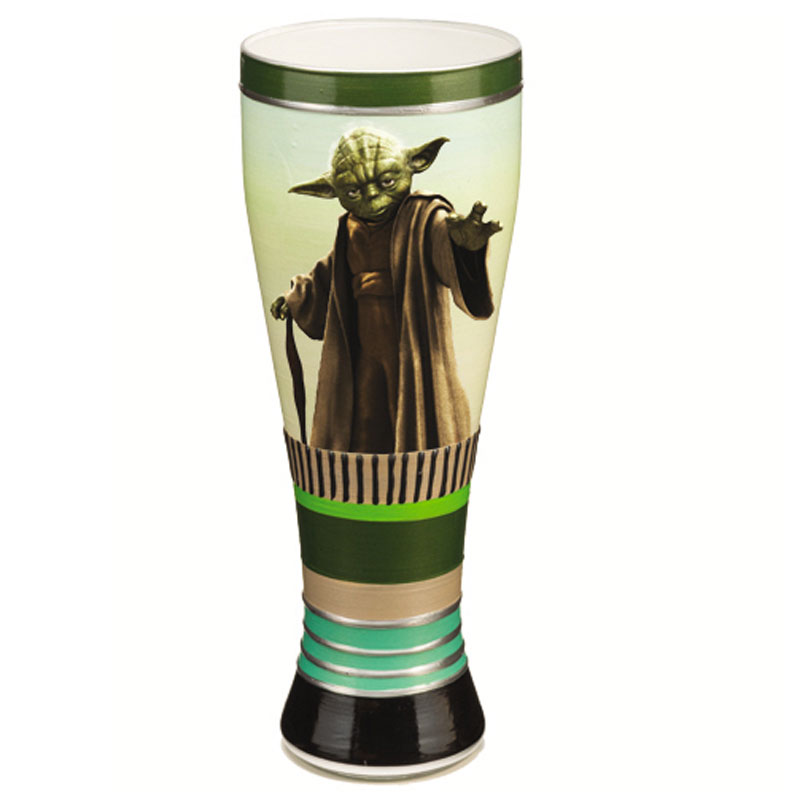 Gag Gifts - Star Wars: 20oz. Hand Painted Glass, Yoda