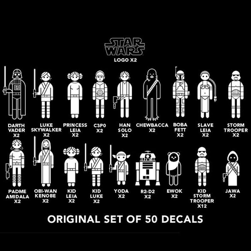 Gag Gifts - Star Wars: Family Car Decals
