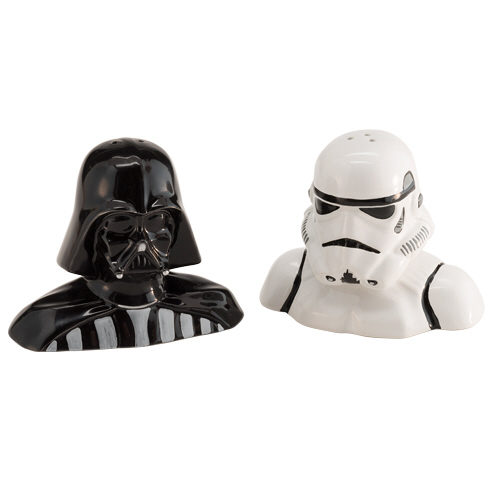 Gag Gifts - Star Wars Darth Vader and Stormtrooper Salt and Pepper Shakers
