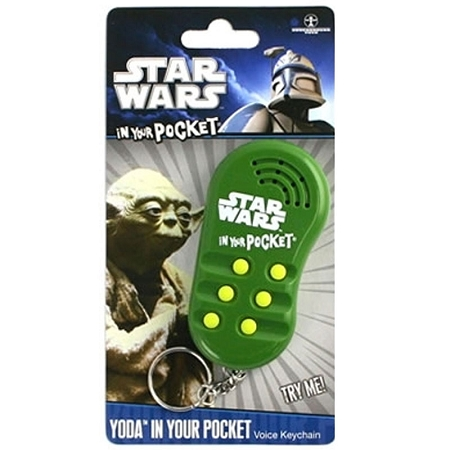 Gag Gifts - Star Wars In Your Pocket Talking Keychain: Yoda