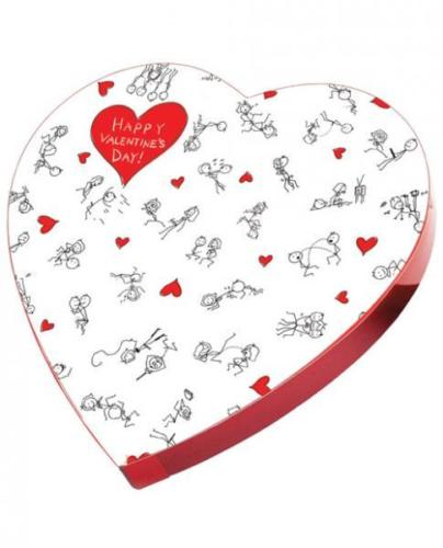 Gag Gifts - Stick Figure Valentine Heart Box