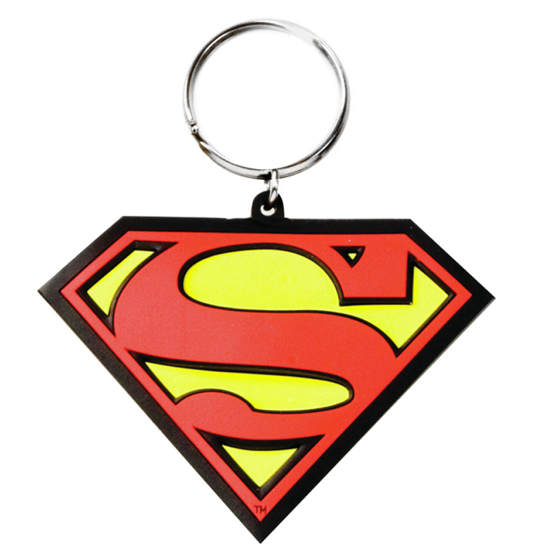 Gag Gifts - Superman Logo Color PVC Keychain