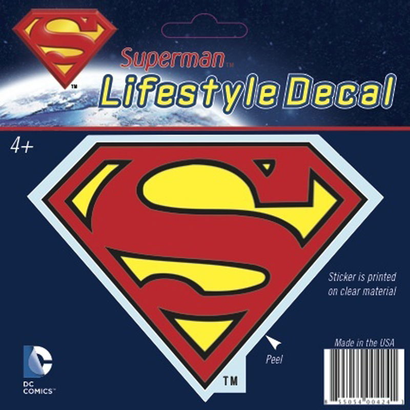 Gag Gifts - Superman Shield Car Decal, Multicolor