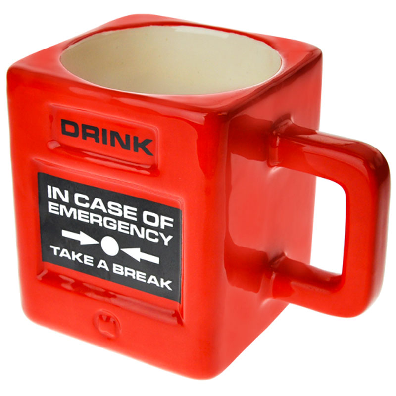 Gag Gifts - Take a Break Mug: Fire Alarm Mug