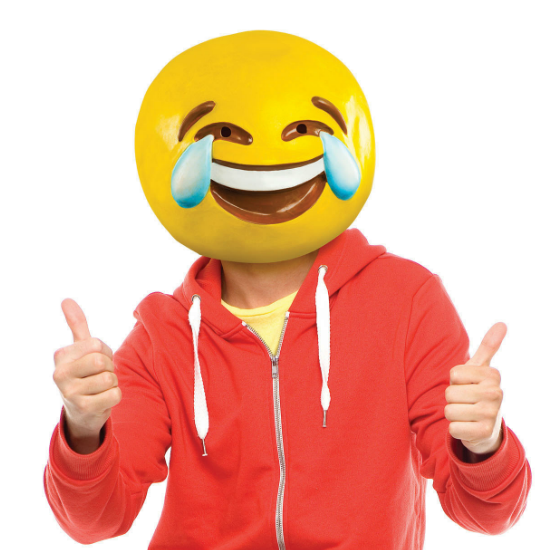 Gag Gifts - Tears of Joy Emoji Mask