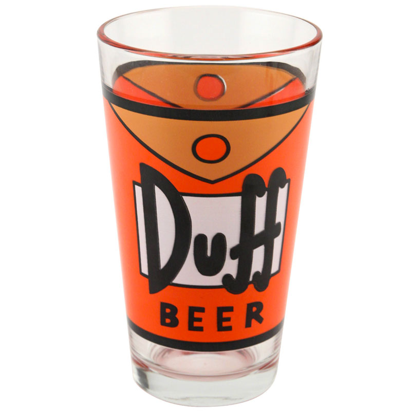 Gag Gifts - The Simpsons: DuffMan Pint Glass, 16oz.