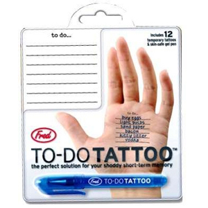 Gag Gifts - To-Do Tattoos