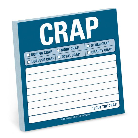 Gag Gifts - Total Crap Sticky Notes