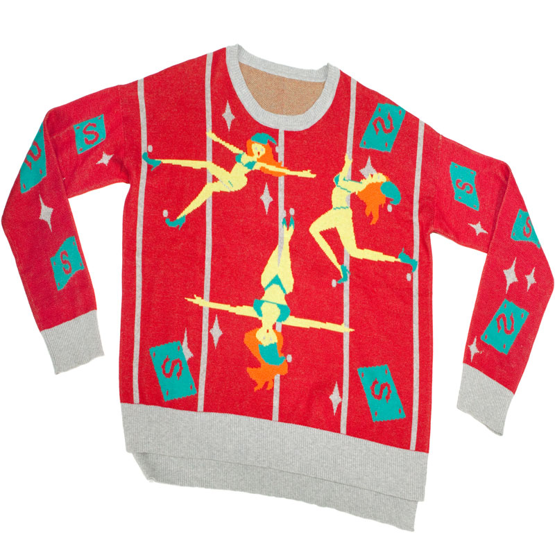 Gag Gifts - Ugly Christmas Sweater: Pole Dancing Elves, 1st Edition