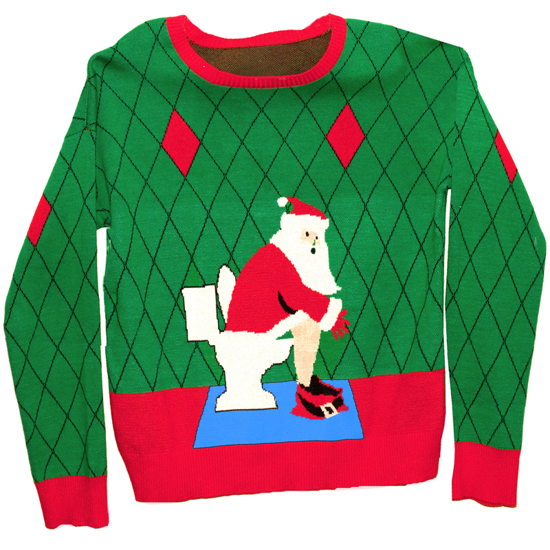 Gag Gifts - Ugly Christmas Sweater: Toilet Santa, 1st Edition
