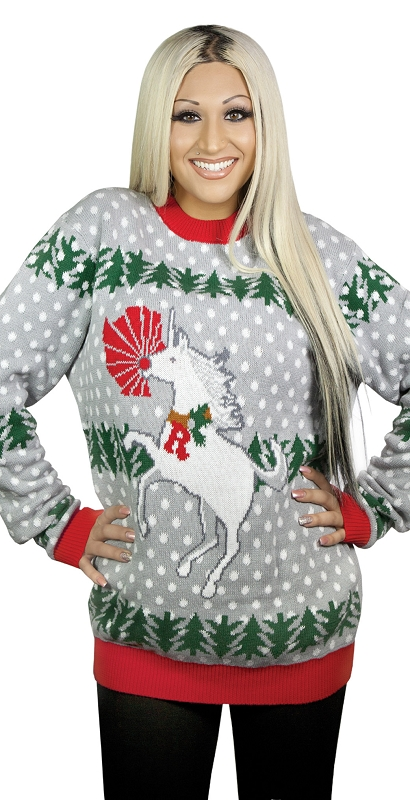Gag Gifts - Ugly Christmas Sweater: Unicorn Rudolph
