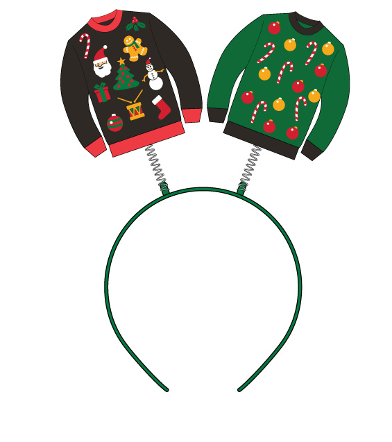 Gag Gifts - Ugly Christmas Sweater Headband Boppers