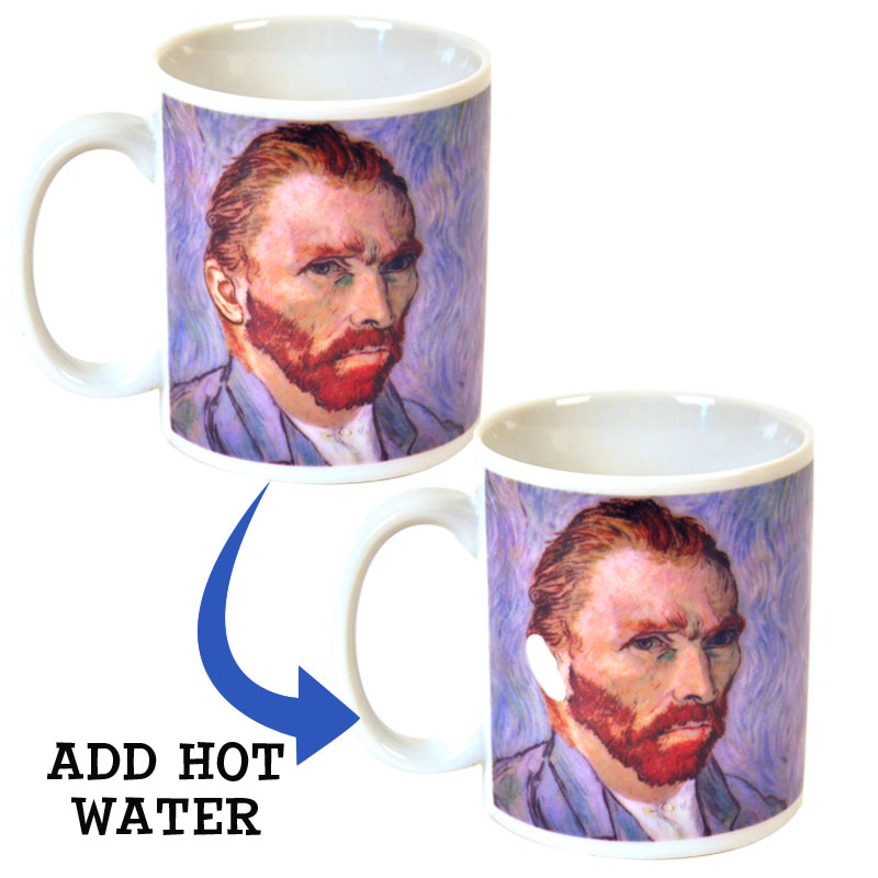 Gag Gifts - Vincent Van Gogh's Disappearing Ear Mug