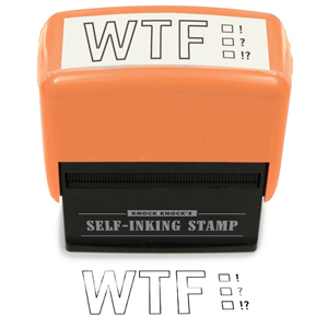 Gag Gifts - WTF Stamp