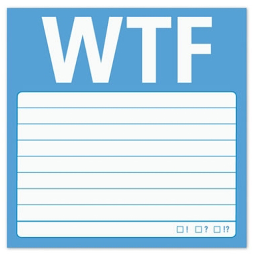 Gag Gifts - WTF Sticky Notes