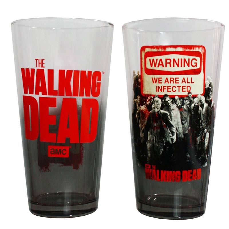 Gag Gifts - Walking Dead Pint Set: Set of 2