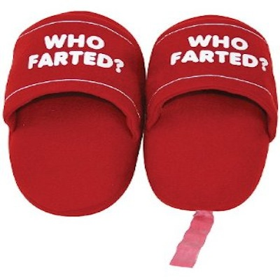 Gag Gifts - Who Farted Slippers