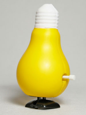 Gag Gifts - Wind Up Walking Lightbulb