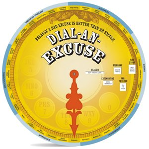 Gag Gifts - Wisdom Wheel- Dial an Excuse