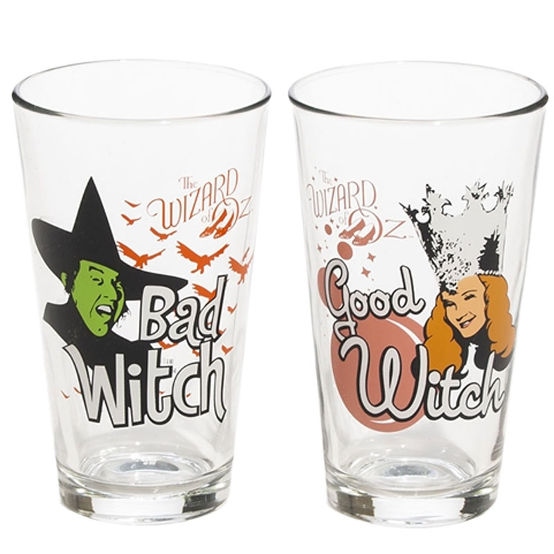 Gag Gifts - Wizard of Oz: Good Witch and Bad Witch Glass Set