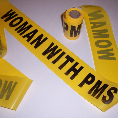 Gag Gifts - Woman with PMS Crime Tape