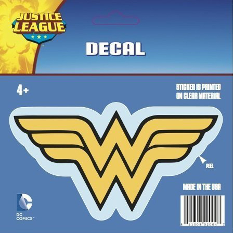 Gag Gifts - Wonder Woman Logo Car Decal, Multicolor