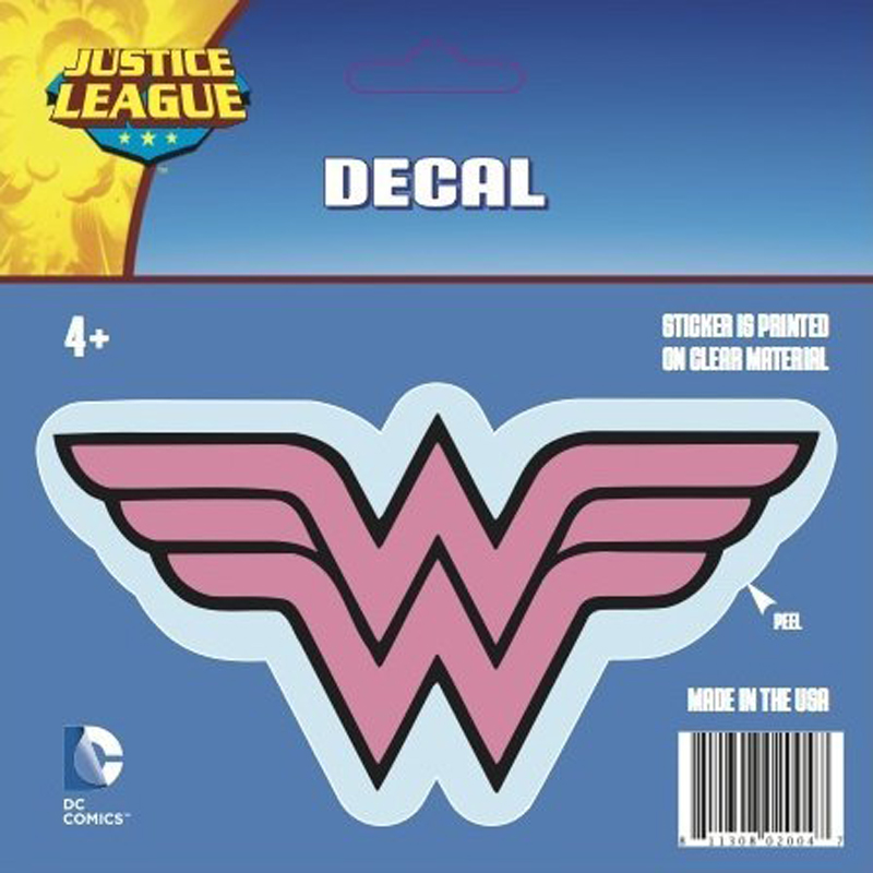 Gag Gifts - Wonder Woman Logo Car Decal, Pink and Black