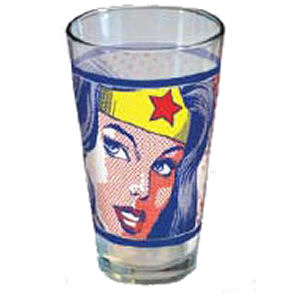 Gag Gifts - Wonder Woman Pop Art Glass