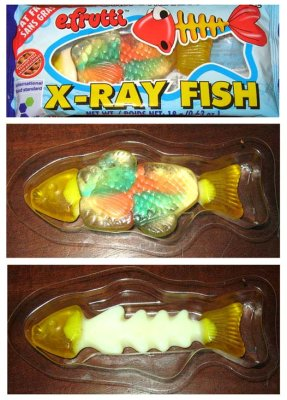 Gag Gifts - X-Ray Fish Candy (3 Pieces)