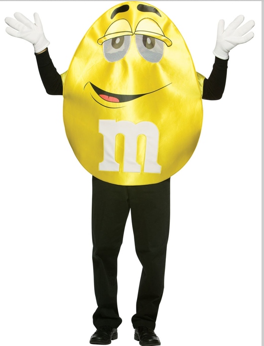 Gag Gifts - Yellow M&M Costume    Adult