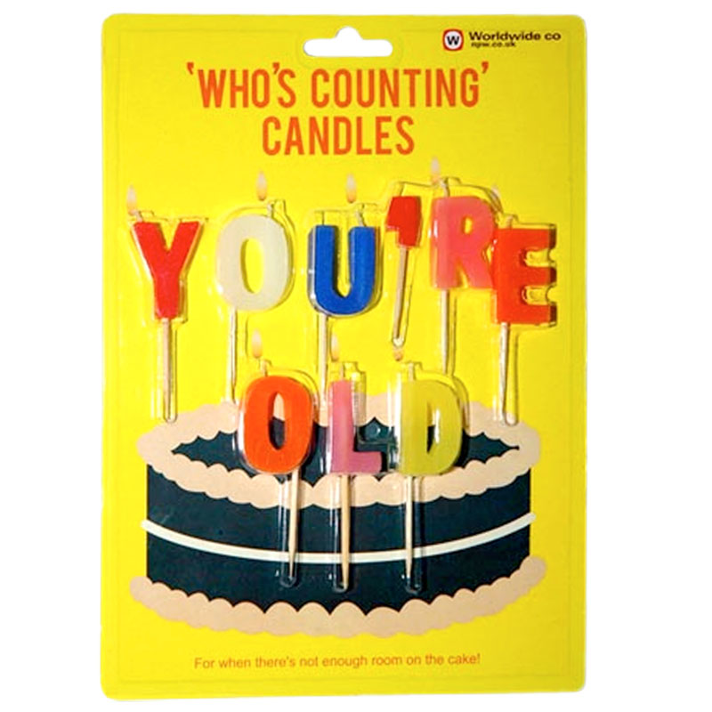 Gag Gifts - You're Old, Who's Counting Candles