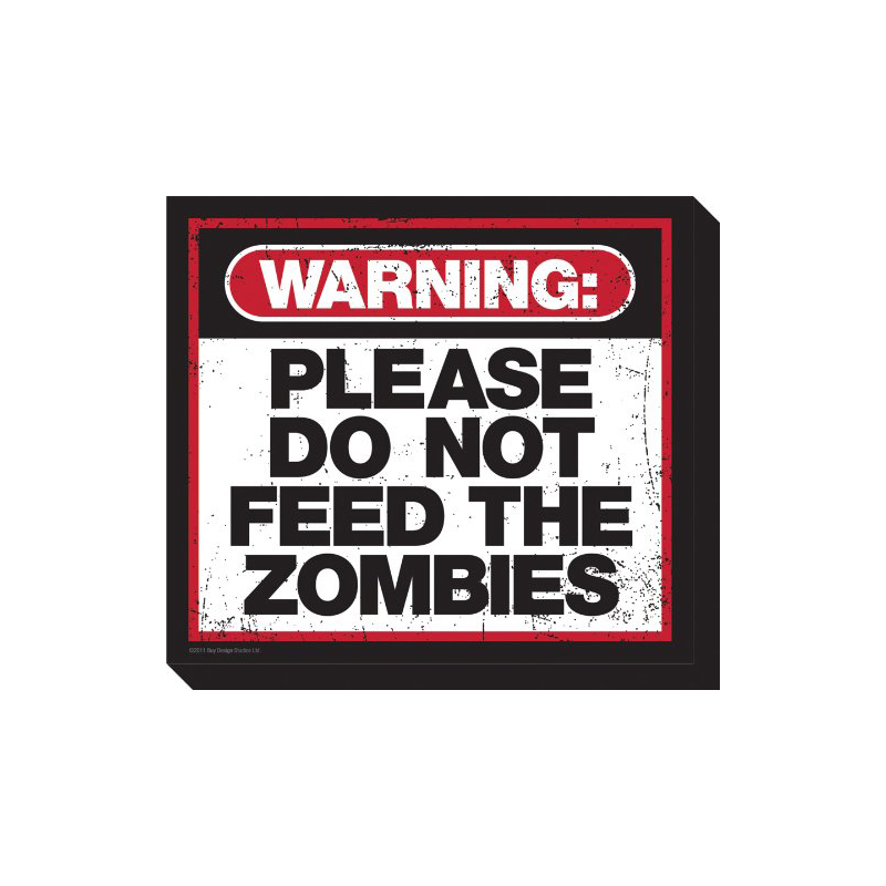 Gag Gifts - Zombie Warning Magnet
