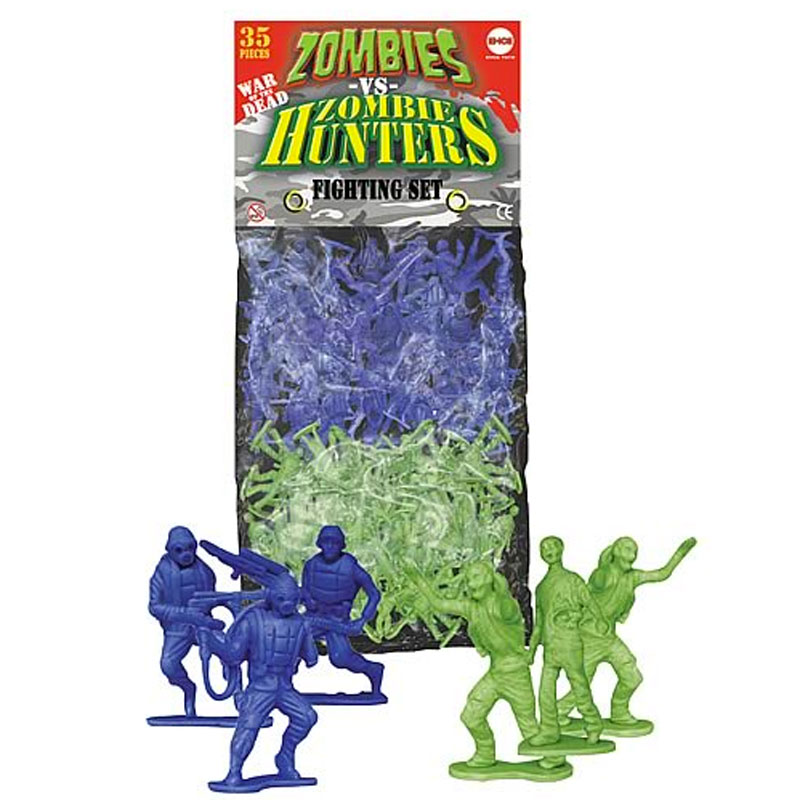 Gag Gifts - Zombies vs. Zombie Hunters Play Set
